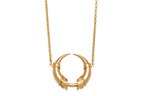 Wild forest necklace - gold plated