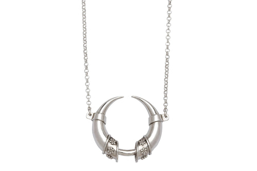 Wild forest necklace - silver