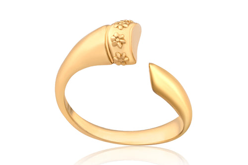 Wrapped horn ring - Gold Plated