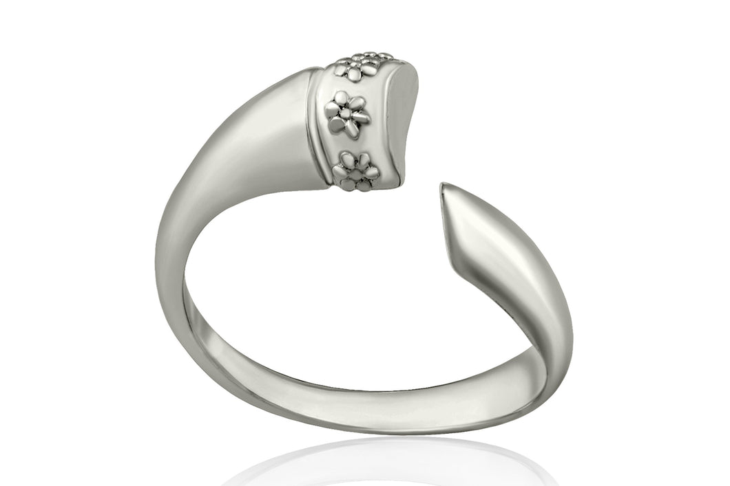 Wrapped horn ring - Silver