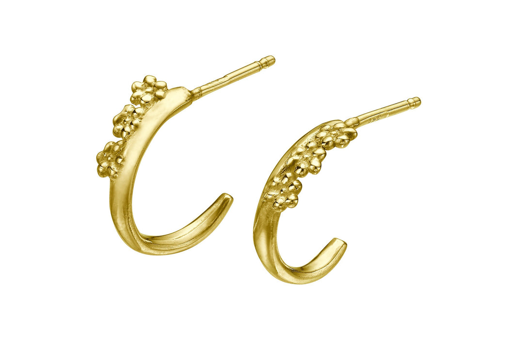 Blossom Hoops Earrings - Gold Plated