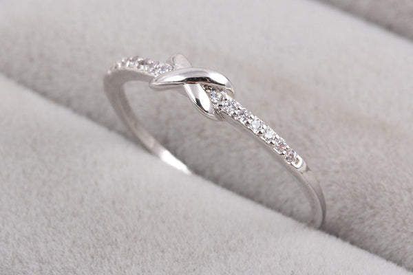 Cross Infinity Crystal Ring
