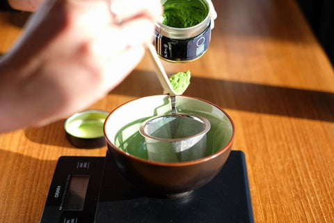 Weigh out the matcha powder
