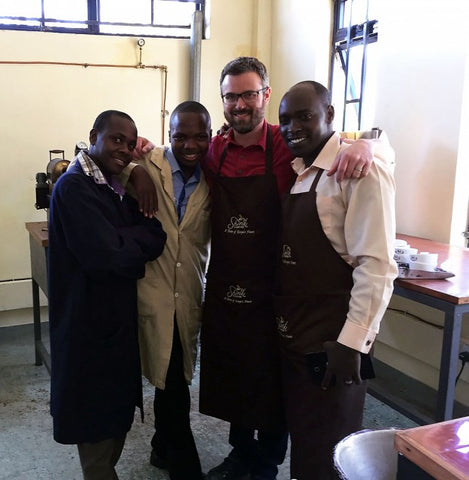 The fearless and tireless cupping team at KCCE