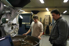 Inspecting our roaster