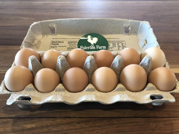 One Dozen Chicken Eggs