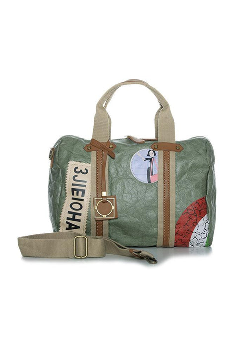 Bolso bowling Natural Paper verde
