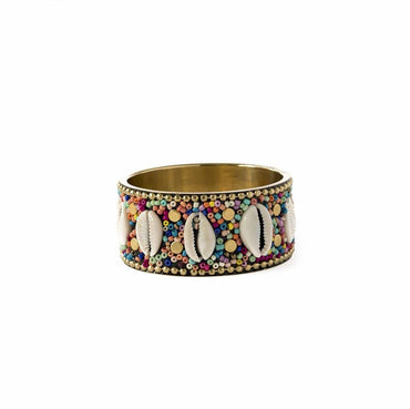 Brazalete Shell Tribal multicolor.