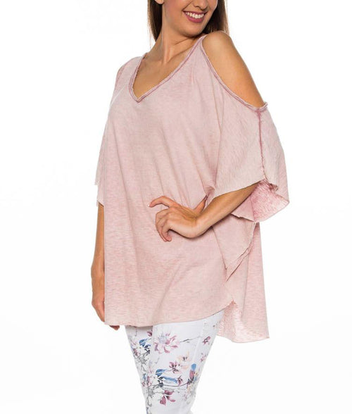 Camiseta Butterfly rosa
