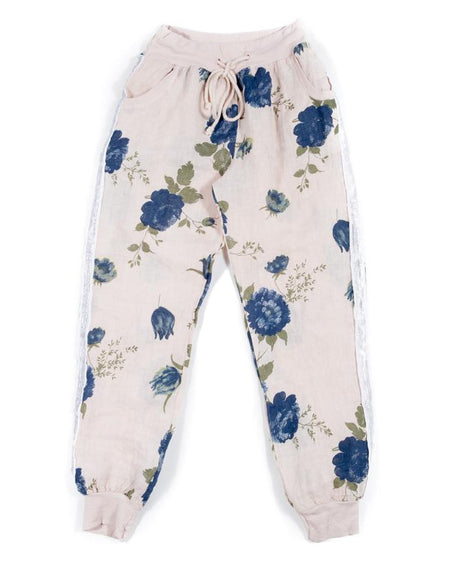 Joggy pant Fall flores rosa