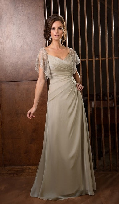 Jade by Jasmine Bridal Mothers Gown Style J165053 Latte Size 14 ...