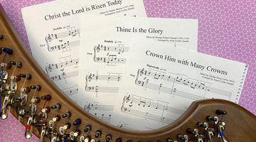 Harp sheet music for Easter