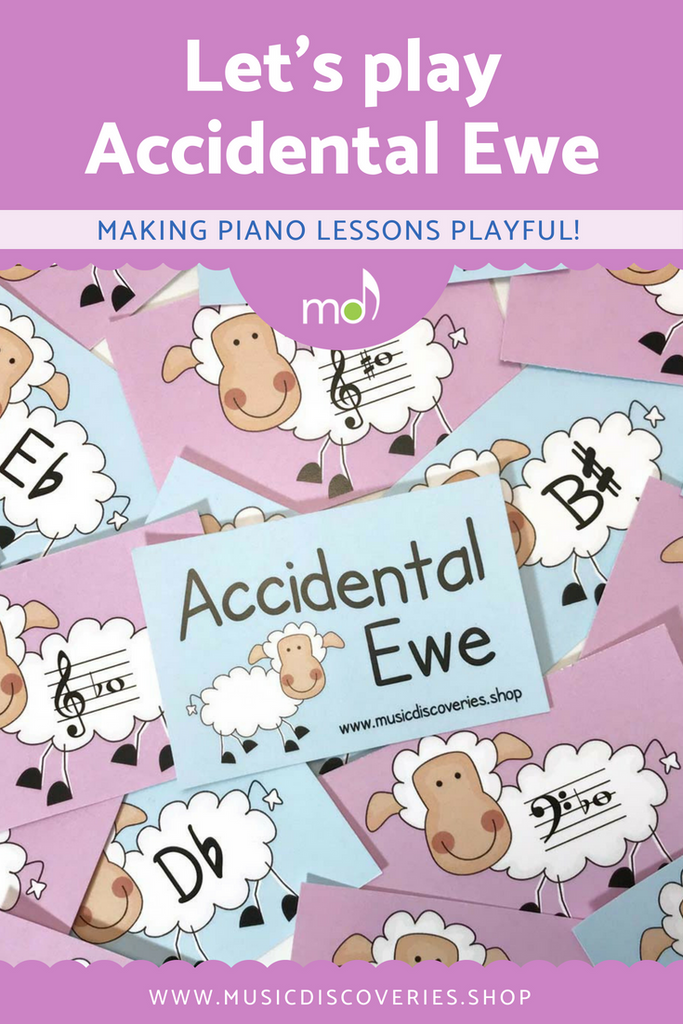 Accidental Ewe is a fun printable teaching aid for piano lessons