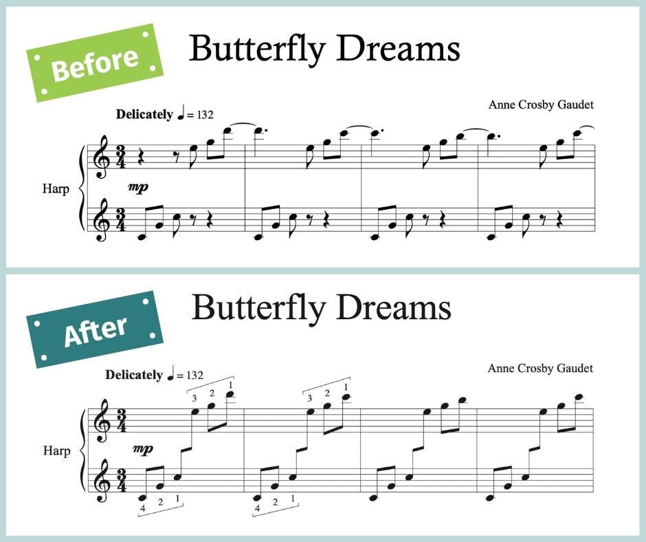 Before and after: Butterfly Dreams