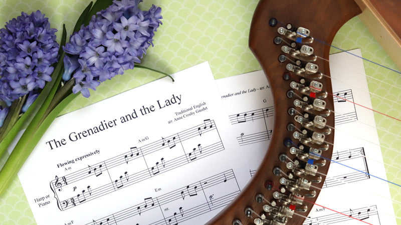 The Grenadier and the Lady FREE sheet music download for harp or piano
