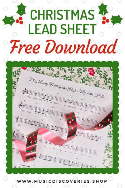 FREE download of the lead sheet Ding Dong Merrily on High with Deck the Halls