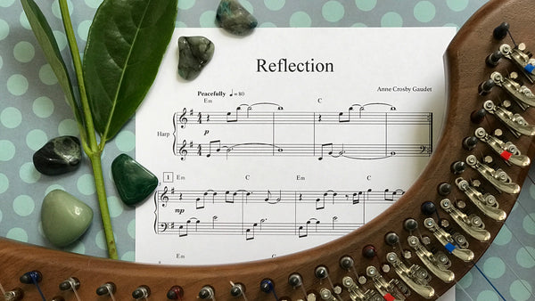Reflection, harp therapy solo by Anne Crosby Gaudet
