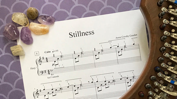Stillness, harp therapy solo by Anne Crosby Gaudet