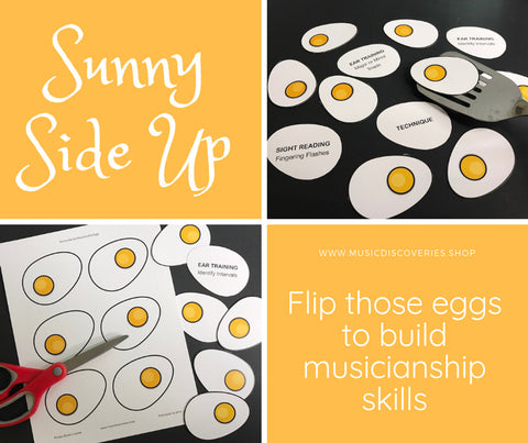 Sunny Side Up is a fun resource for covering musicianship skills during piano lesson time.