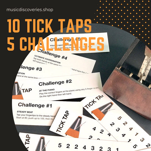 10 Tick Tap Cards : 5 Challenges