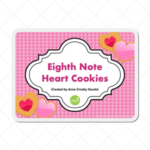 Eighth Note Heart Cookies
