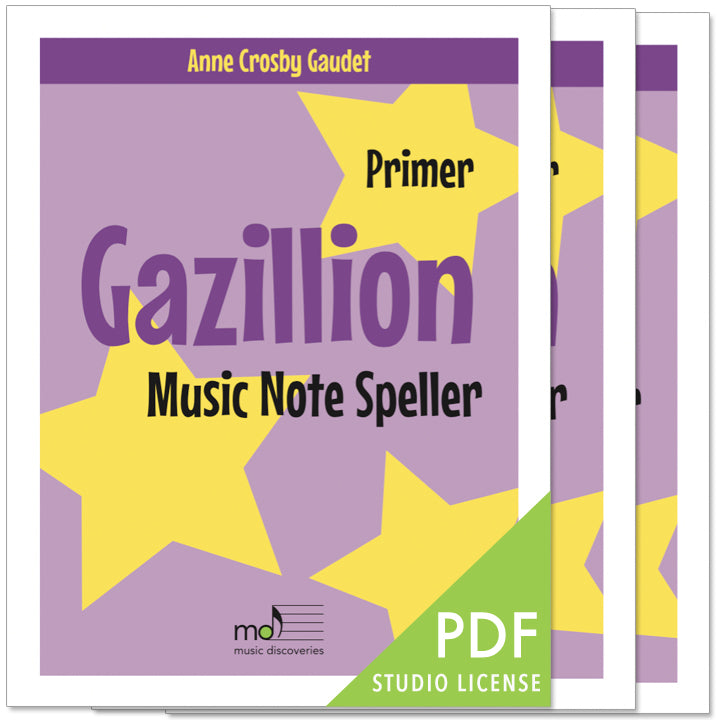 Gazillion Primer, Printable Music Note Speller by Anne Crosby Gaudet