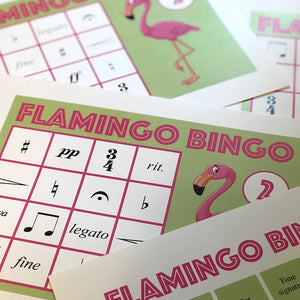 Flamingo Bingo is a fun printable game for piano lessons.