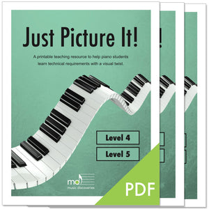 Just Picture It, Level 4 & 5 - printable technique workbooks (studio license)
