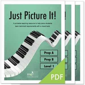 Just Picture It, Prep A, B and Level 1 - printable technique workbooks (studio license)