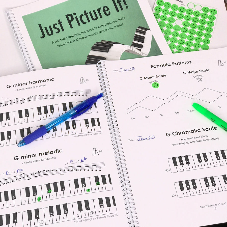Just Picture It, Level 2 & 3 - printable technique workbooks (studio license)