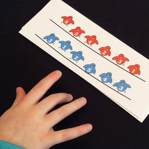 The Birds Fingering Flashes printable piano teaching aid