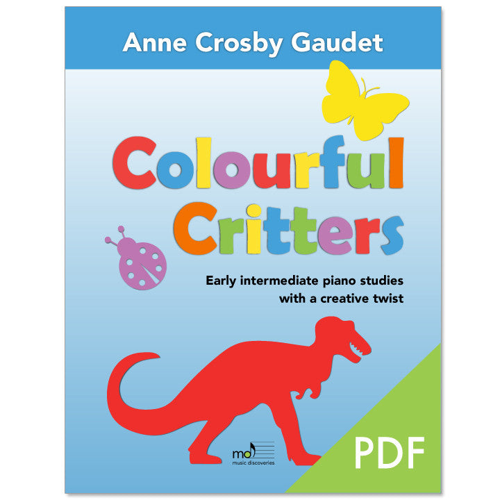 Colourful Critters by Anne Crosby Gaudet (PDF download)