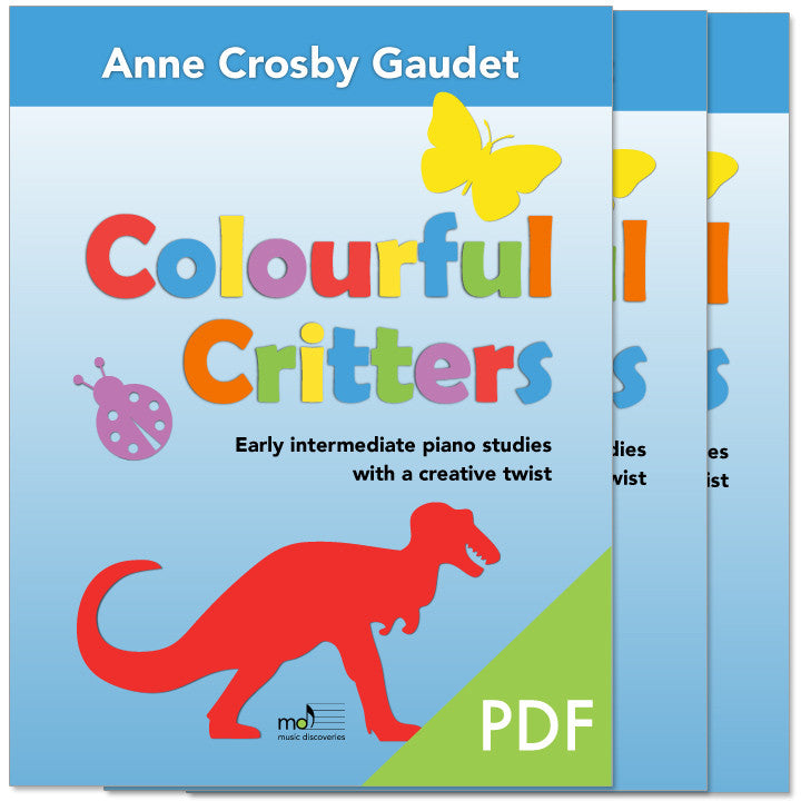Colourful Critters by Anne Crosby Gaudet (private studio license)