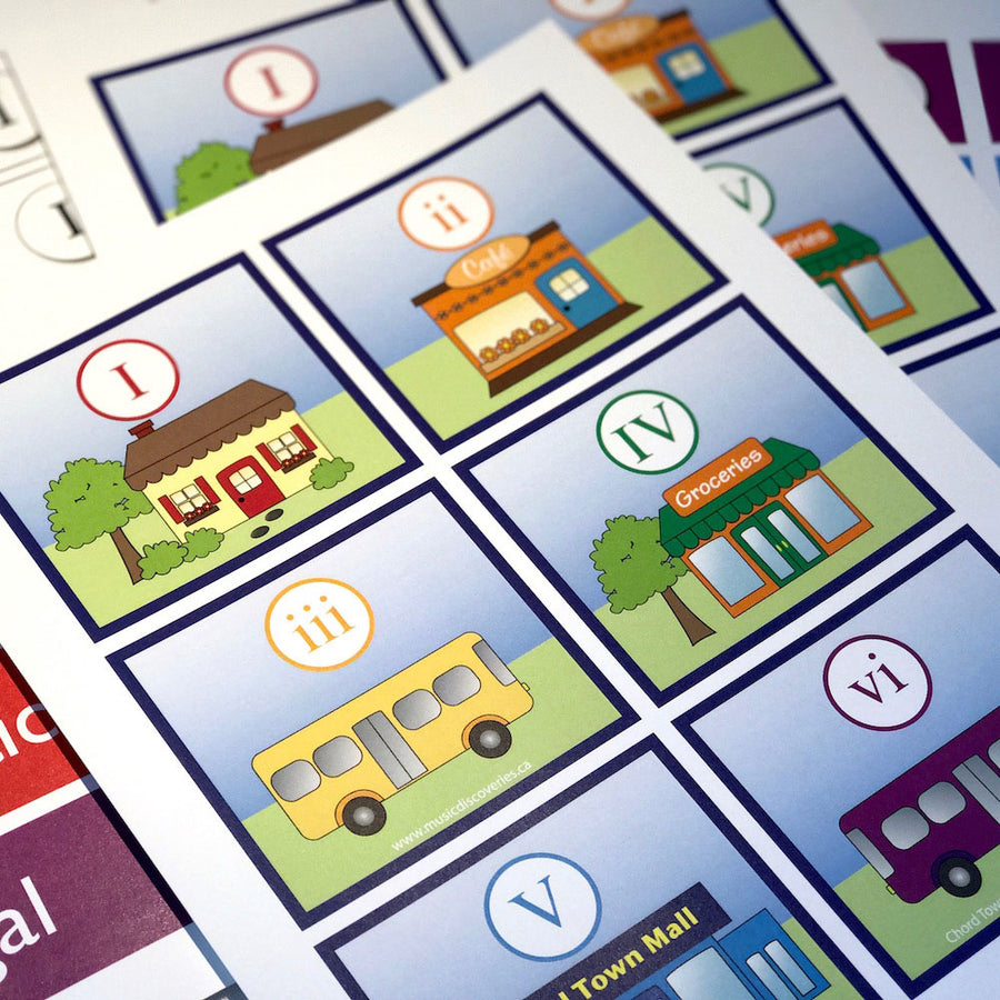 The Chord Town Resource Cards are a printable resource to supplement the Chord Town workbook