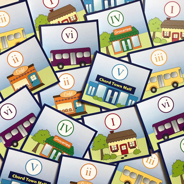 The Chord Town Resource Cards help students practice chord progressions