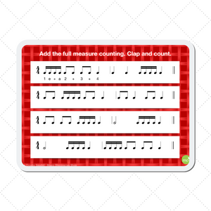 Cookie Rhythms - a digital teaching aid for learning quarter, eighth and sixteenth notes with full measure counting