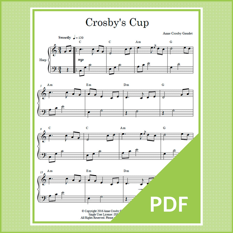 Crosby's Cup, harp solo by Anne Crosby Gaudet