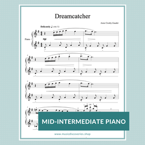 Dreamcatcher, mid-intermediate piano solo by Anne Crosby Gaudet