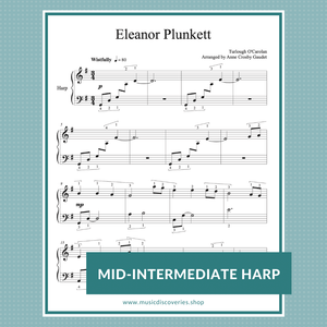Eleanor Plunkett (Turlough O'Carolan) arranged for mid-intermediate harp by Anne Crosby Gaudet