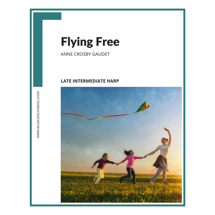 Flying Free, harp sheet music by Anne Crosby Gaudet