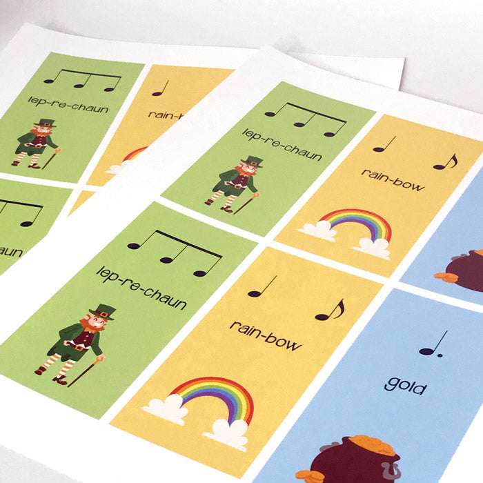 The Leprechaun Rhythms are great for introducing 6/8. Print as many pages as you like.