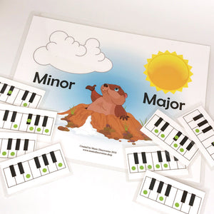 Major Minor Groundhog lets student play and sort pentascales and triads.