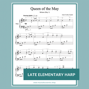 Queen of the May, harp solo by Anne Crosby Gaudet