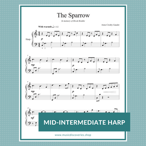 The Sparrow, harp sheet music by Anne Crosby Gaudet (C Major)