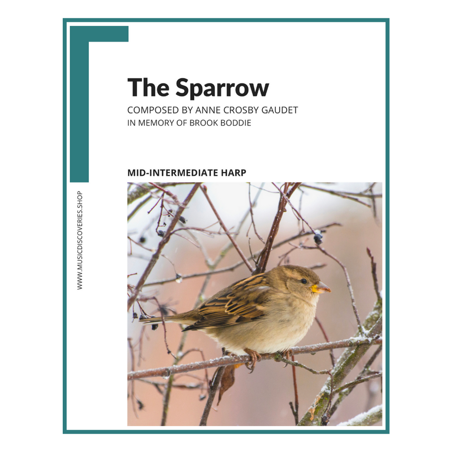 The Sparrow, harp sheet music by Anne Crosby Gaudet
