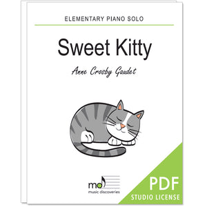 Sweet Kitty is an elementary piano solo by Anne Crosby Gaudet