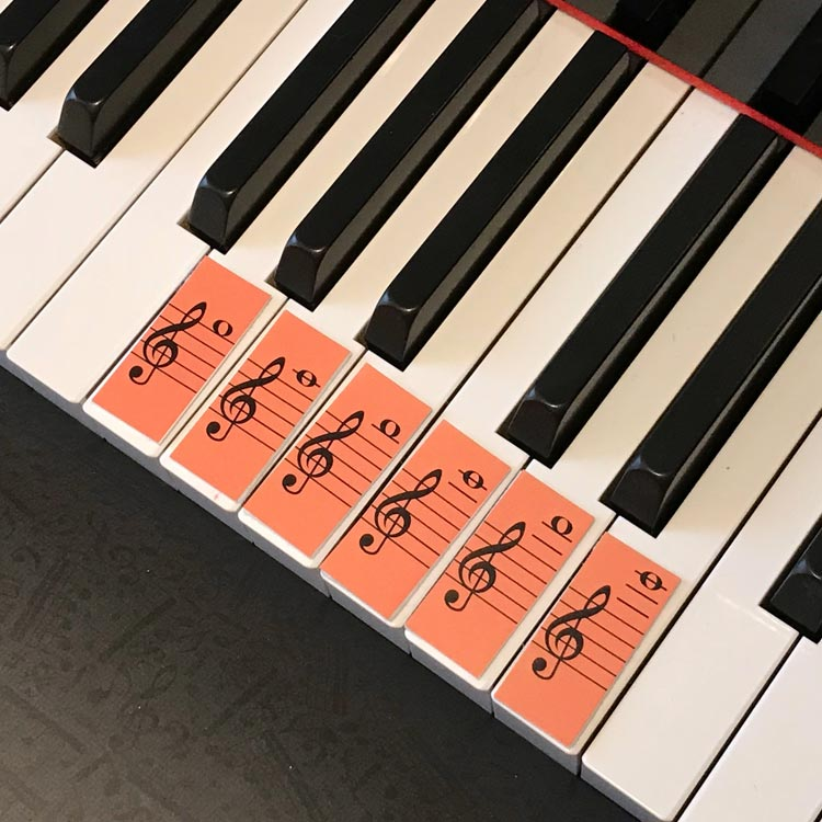 Teeny Tiny Flashcards by Anne Crosby Gaudet at Music Discoveries. Practice ledger lines too.