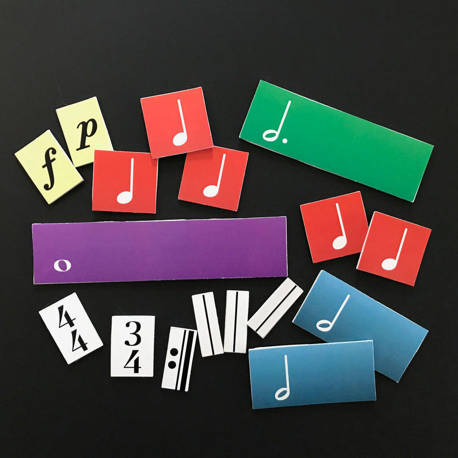 Create and clap rhythms with the Rhythm Block cards.