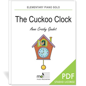 The Cuckoo Clock is an elementary piano solo by Anne Crosby Gaudet. Private studio license is available for a convenient download, print and play teaching resource.