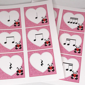Valentine Heart Rhythms printable rhythm activity for the classroom or private lessons.